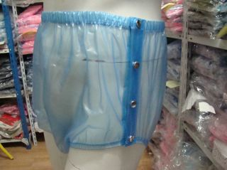 New Adult Baby Plastic Pants PVC Incontinence P004 6T