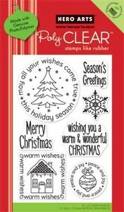 2010 Hero Arts Clear Stamps Wishes Come True Christmas