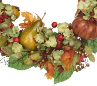 Hydrangea and Fruit 20 Wreath by Valerie Parr Hill