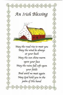 An Irish Blessing Shamrock Cottage Irish Post Card P10
