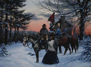 John Paul Strain Civil War Canvas General A P Hill and His Wife