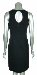 ABS by Allen Schwartz Womens Sleeveless Ruffle Front Sheath Dress 8