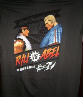 Street Fighter IV Ryu vs Abel No Holds Large Shirt New