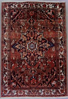 Persian Bakhtiari Hand Knotted Wool Area Rug Carpet w Abrash