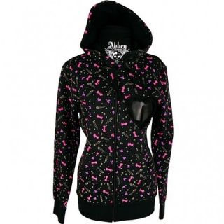 Abbey Dawn Avril Lavigne Everybody Hurts Heart Bow Safety Pin Hoodie
