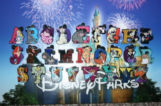 2011 Disney DLR Hidden Mickey Alphabet ABC 26 Pin Set