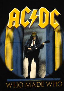 ac dc acdc who made who album cover rock band t shirt tee sku ts492 00