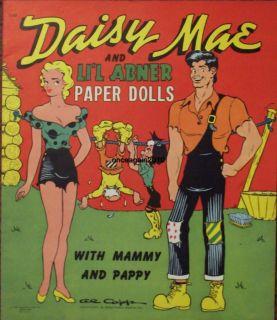 Vintage Uncut 1951 Daisy Mae LiL Abner Paper Dolls 1 Repro Orig Size