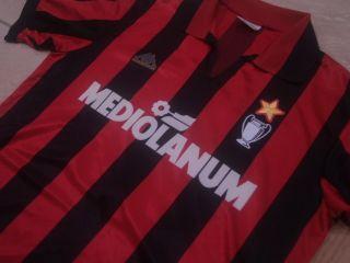 VINTAGE KAPPA AC MILAN ITALY SIRIE A 1989 1990 FOOTBALL SHIRT SOCCER