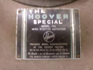 Vintage Hoover Special Vacuum Cleaner Model 700 with Positive