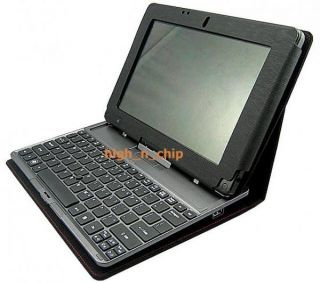 Leather Folio Case Pouch for Acer Iconia Tab W500 Black