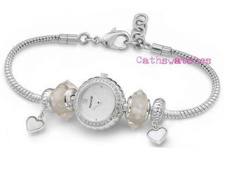 Accurist Ladies Sterling Silver Charmed Watch SL1405 (Precious) Heart