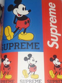 Supreme Vol 5 RZA Rosa Acosta Leopard Towel Mickey Sticker New Terry