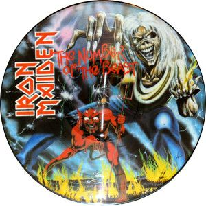 Iron Maiden Number of The Beast Picture Disc LP Vinyl Album RARE New
