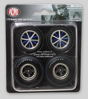 Heaven Dragster Wheels Tires Set 1 18 Acme Trading GMP 1800809W