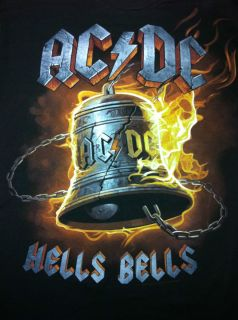 Hells Bells ACDC T Shirt Mens Black AC DC Rock N Roll
