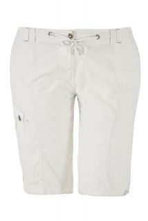 Yours Clothing Womens Plus Size White Combat Shorts with Jewelled