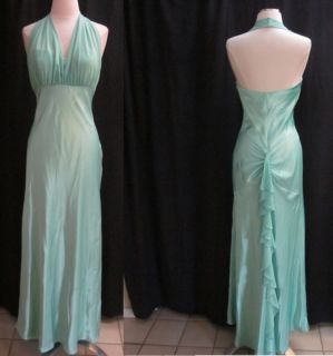 BETSY ADAM BY LINDA BERNELL FORMAL GOWN WEDDING PROM GREEN DRESS SIZE