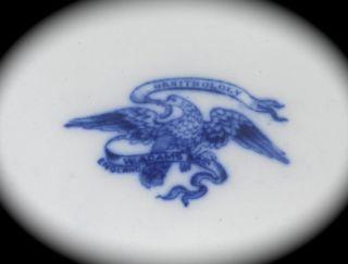 VERY RARE Wash Basin PITCHER & BOWL Blue & White ADAMS Birds