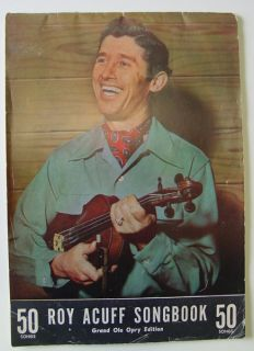 50 SONGS Roy Acuff Songbook Grand Ole Opry Edition Sheet Music Book