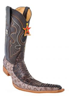 Men Cowboy Boots Los Altos Western Python Leather Vintage Fashion