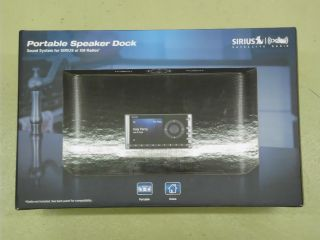 New Sirius XM Satellite Radio Portable Speaker Dock SXABB1 (AUX iPod