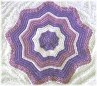 Round Adelina Rose Ripple Baby Afghan Crochet Pattern