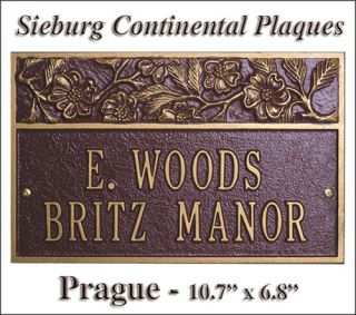 prague this address marker will add sophisticated curb appeal value to