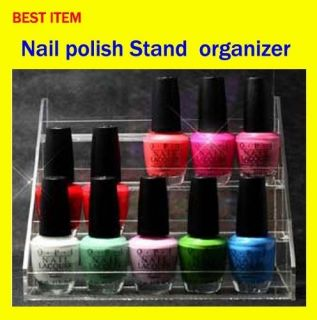 Makeup Organizer Nail Polish Rack Stand Display Acrylic Storage Holder
