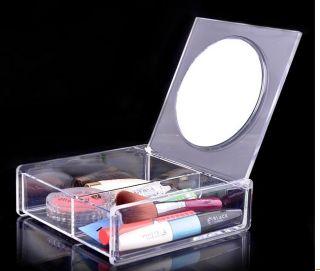 Acrylic Cosmetic Mirror Box Storage Cosmetic Organizer Makeup Case