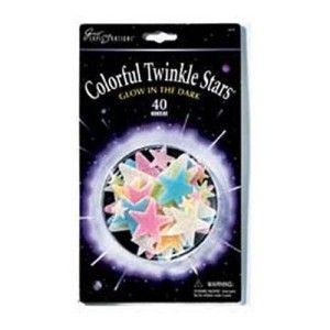 40 Glow in The Dark Baby Nursery Colorful Plastic Pastel Sparkle