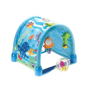 Baby Activity Mat Gym Pad Play Quilt Developmental Crawling Tunnel