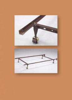 Adjustable Metal Twin Full Queen Bed Frame With Rug Rollers & Locking
