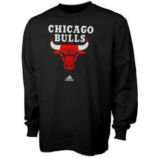 Adidas Chicago Bulls Primary Logo Long Sleeve T Shirt Black
