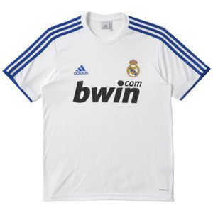 Adidas Mens ClimaLite Real Madrid Replica Home T Shirts Soccer