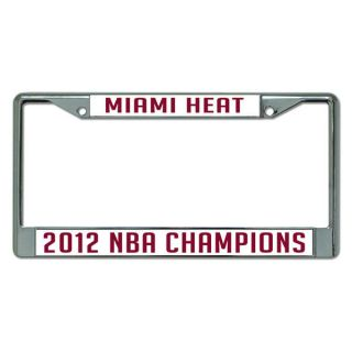 Miami Heat 2012 NBA Finals Champions Laser Chrome License Plate Frame