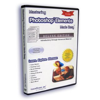 Learn Adobe Photoshop Elements 10 9 8 7 6 Training Tutorial DVD ROM