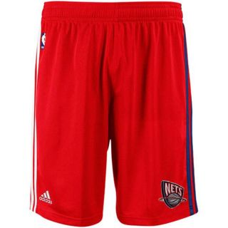 NBA New Jersey Nets Adidas on Court Pre Game Shorts Red