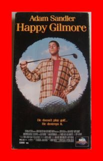 Happy Gilmore VHS Movie Video Tape Adam Sandler Golf Comedy Free SHIP