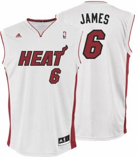 Lebron James Jersey Adidas Revolution 30 White Replica 6 Miami Heat