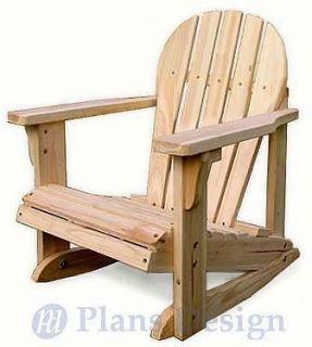 Diy Wood Design Child S Adirondack Rocking Chair