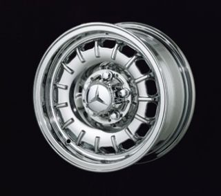 New 14 Mercedes Old Style Chrome Rim Wheels 107 SL Class