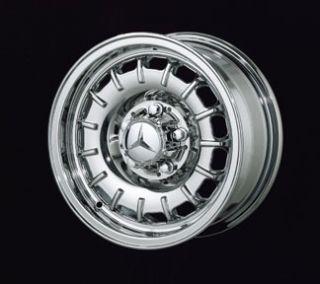 New 14 Mercedes Old Style Chrome Rim Wheels 107 SL Class