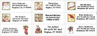 This Listing is for 30 Return Christmas Address Labels or Stickers