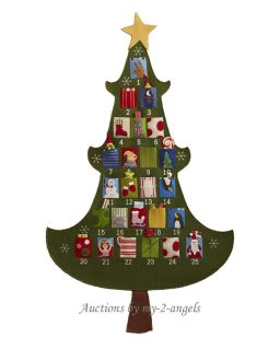 Vintage Embroidery Pattern Cutie Kids Christmas Tree