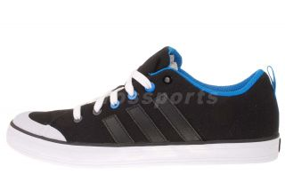 Adidas Brasic 4 Black Blue Mens Classic Casual Tennis Shoes G63181