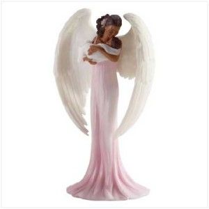 african american angel infant baby statue figurine