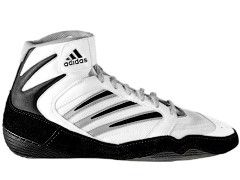 mens wrestling shoes by adidas size 8 1 2 description used but in very