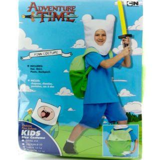 Adventure Time Finn Child Boys Halloween Costume Sz Large 12 14 Hat