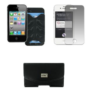 Empire Credit Card Hard Case Black Screen Guard Pouch for Apple iPhone
